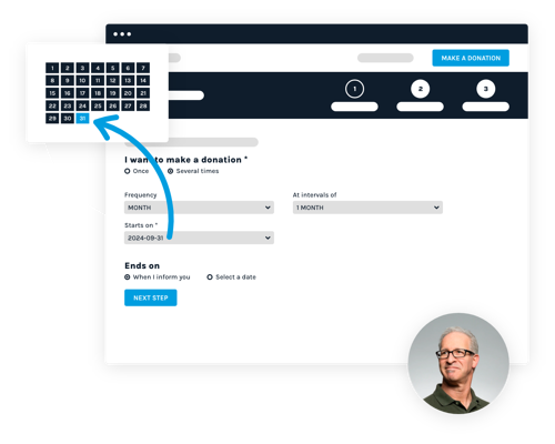 Interface representing recurring donations