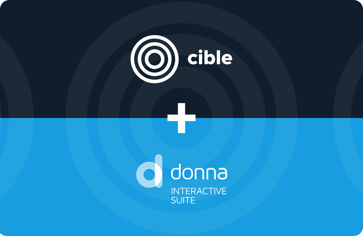 Alliance between Cible Solutions and the Donna Interactive Suite